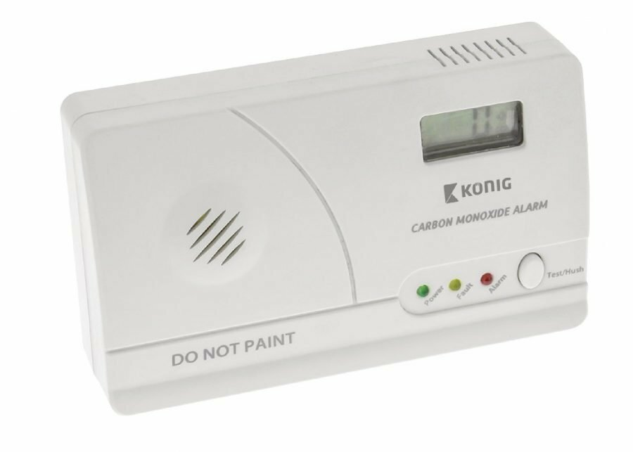 König LCD-näytöllä varustettu hiilimonoksidi-ilmaisin EN50291